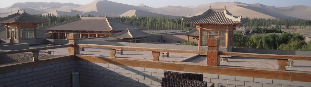 Desert chinese buildings